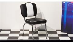 Essgruppe Elvis 5 Tischgruppe Edelstahl schwarz American Diner 50er Jahre Retro