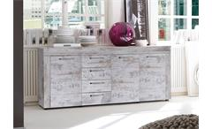 Sideboard RIVER Kommode in canyon white Pinie Shabby Vintage used look