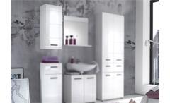 Bad Hängeschrank Skin Badezimmer Schrank mit Front in weiß hochglanz