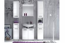 Badezimmer Skin Badmöbel Set 2 mit Front in weiß hochglanz 5-teilig