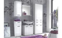 Badezimmer Skin Badmöbel Set 3 Front in weiß hochglanz großer Hochschrank