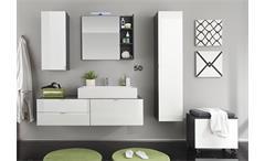 Wandspiegel Beach Spiegel Badmöbel Badezimmer Bad in grau mit Ablage