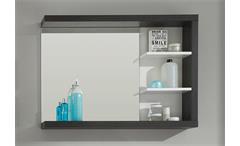 Wandspiegel Sunrise Badmöbel Badezimmer in Sardegna Rauchsilber und weiß