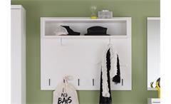 Garderobenpaneel Derby Garderobenhaken Wandpaneel Paneel Garderobe in weiß