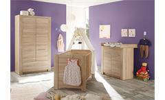 Babyzimmer Set 1 Carlotta Kinderzimmer komplett in Eiche sägerau hell 3 teilig