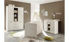 Babyzimmer Set Landi Kinderzimmer komplett in Pinie Struktur weiß 3 teilig