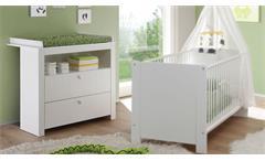 Wickelkommode OLIVIA Wickeltisch Babyzimmer in weiß