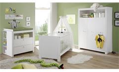 Regal weiß Unterstellregal Olivia 3 Fächer für Wickelkommode Babyzimmer 93 cm