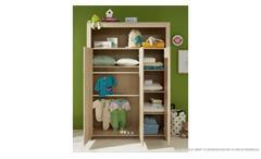 Kleiderschrank Olivia Drehtürenschrank Schrank Babyzimmer in weiß 130x186 cm