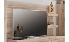 Wandpaneel Passat Paneel in Eiche sand Nachbildung für TV Unterteil Lowboard