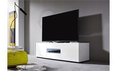 Lowboard Imola Unterschrank TV Unterteil weiß hochglanz Lack 130 cm