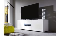 Lowboard Imola Unterschrank TV Unterteil weiß hochglanz Lack 150 cm