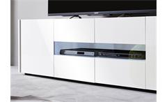 Lowboard Imola Unterschrank TV Unterteil weiß hochglanz Lack 173 cm