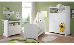 Babyzimmer Olivia 5-teiliges Komplettset Kinderzimmer in Weiß