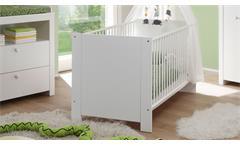 Babyzimmer 5-Teilig Olivia Babybett Schrank Wickelkommode Regal Babymöbel weiß