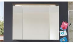 Spiegelschrank Adamo Sardegna Rauchsilber 96x73 LED und Schalter-Steckdosenbox