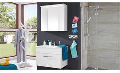 Badezimmer Set Adamo Waschbecken Unterschrank Spiegel 2-teilig in weiß Hochglanz