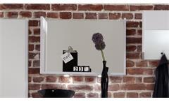 Garderobenspiegel IMOLA in weiß Hochglanz Wandspiegel