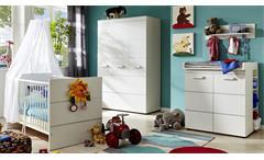 Babyzimmer LEONY in weiß Dekor 3-teilig