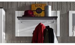 Garderobenpaneel DAKOTA Wandpaneel Pinie weiß Struktur und Touchwood dunkelbraun