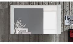 Wandspiegel DAKOTA Spiegel Pinie weiß Struktur Touchwood dunkelbraun Garderobe
