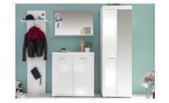 Garderobenschrank Amkanda Dielenschrank in weiß Hochglanz Flurmöbel Garderobe