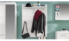 Garderobenpaneel 1 Amanda Wandgarderobe in weiß Hochglanz Paneel Flur Garderobe