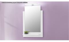 Bad Wandspiegel TTB-03 weiß Glanz Spiegel Badspiegel Badezimmer