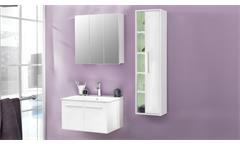 Badezimmer Set TTB-03 Badmöbel inklusive Porzellan-Waschbecken 3-tlg weiß Glanz