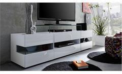 TV Lowboard Sonic TV-Board Lowboard Fernsehtisch in weiß Melamin Glanz