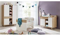 Babyzimmer BASTOS in Eiche Riviera Honig weiß 3-teilig
