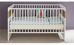 Babyzimmer Bastos Eiche Riviera Honig und weiß Babymöbel