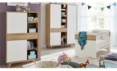 Babyzimmer Bastos Eiche Riviera Honig und weiß Babymöbel 5-teilig