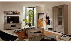 TV-Board Ameland Lowboard in Nelson Eiche mit 1 Fach 2 Türen und 1 Schubkasten
