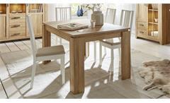 Esstisch Canyon Esszimmertisch Tisch in Alteiche Platte ausziehbar 160-200x90 cm