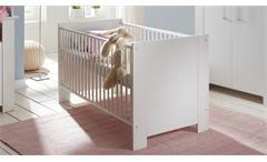 Babybett Miri Gitterbett Kinderbett Babymöbel Pinie Struktur weiß