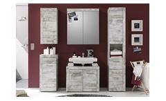 Badezimmer Set Cancun 5-tlg in Canyon White Pinie Badmöbel Badschrank Spiegelschrank