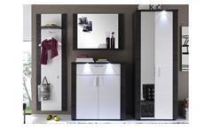 Garderobe Xpress 4-teiliges Set  in Esche grau weiß Dielenschrank Flurmöbel