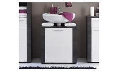 Waschbeckenunterschrank Xpress Badezimmer Bad Schrank in Esche grau und weiß