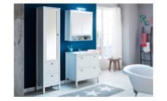 Hochschrank Ole Badezimmerschrank Spiegelschrank Badschrank Badmöbel in weiß