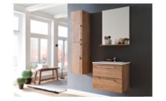 Waschbeckenunterschrank Intenso Badezimmer in Trüffel Eiche mit Waschbecken