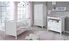 Wickelkommode Ole Wickeltisch Kommode für Babyzimmer mit Wickelaufsatz weiß
