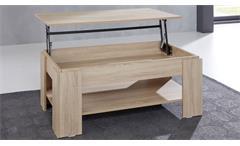 Couchtisch Universal Tisch Eiche Sägerau mit Funktion Beistelltisch Wohnzimmer