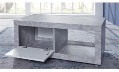 Couchtisch Universal Tisch Beton Stone auf Rollen Wohnzimmertisch Beistelltisch
