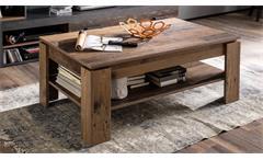 Couchtisch Indy Tisch in Old Wood mit Ablageboden Wohnzimmertisch Beistelltisch