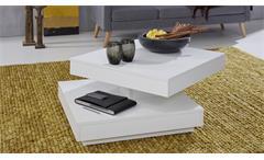 Couchtisch weiß Universal Wohnzimmertisch drehbar Tisch Beistelltisch