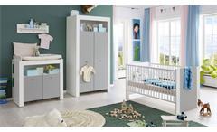 Wickelkommode Pasi Kommode Wickeltisch mit Aufsatz Babyzimmer weiß grau 96x103