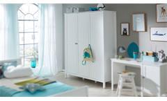 Kleiderschrank Ole Schrank Drehtürenschrank für Jugendzimmer in weiß 141x192 cm