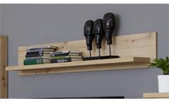 Wandboard Hängeregal Wandregal Dusk Dekoregal Artisan Eiche Melamin 150 cm