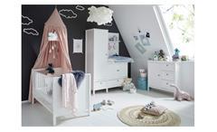 Babyzimmer Set weiß Emma 3-tlg Babybett Kleiderschrank Wickelaufsatz Kommode